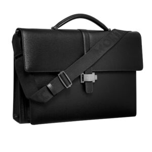 4810 Westside Double Gusset Briefcase / Black - Grey- Jewels in Paradise Aruba - Montblanc - 114679