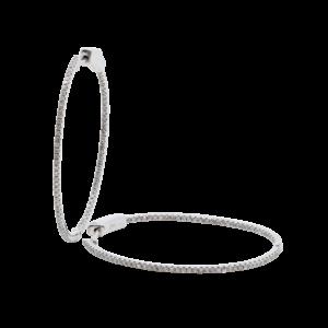 18k White Gold 0.65ct Inside-out Diamond Hoop Earrings Jewels in Paradise Aruba-4