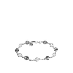 Classic Chain 6MM Hammered Bead Bracelet in Silver John Hardy Jewels in Paradise Aruba BB90584
