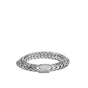 Tiga Classic Chain 11MM Bracelet in Silver with Diamonds John Hardy Jewels in Paradise Aruba BBP9000852DI
