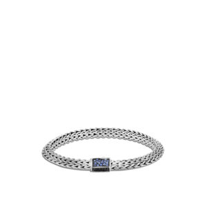 Tiga Classic Chain 6.5MM Bracelet in Silver with Gemstone John Hardy Jewels in Paradise Aruba BBS905034BLSBNBSP