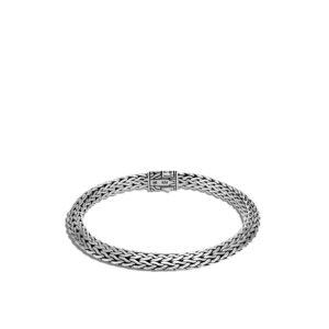 Tiga Classic Chain 6.5MM Bracelet in Silver with Gemstone / Black Sapphire John Hardy Jewels in Paradise Aruba BBS905034BLS
