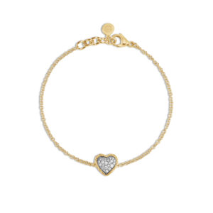 Classic Chain Heart Station Bracelet in 18K Gold with Diamonds BGX903852DI John Hardy Jewels in Paradise Aruba