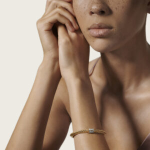 Tiga Classic Chain 6.5MM Bracelet in 18K Gold with Diamonds John Hardy Jewels in Paradise Aruba BGX905032DI