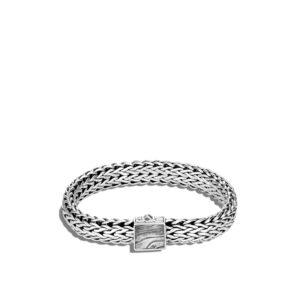 Classic Chain 11MM Bracelet in Silver and Damascus Steel John Hardy Jewels in Paradise Aruba BM90502STL