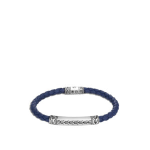 Classic Chain 5MM Station Bracelet in Silver and Leather John Hardy Jewels in Paradise Aruba BM90620BU
