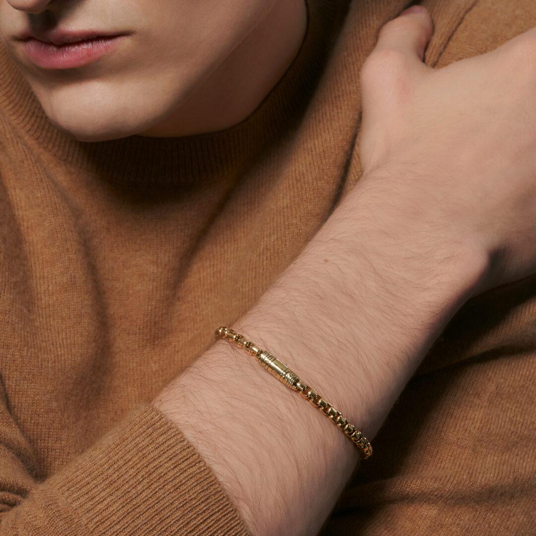 5MM Box Chain Bracelet in 18K Gold John Hardy Jewels in Paradise Aruba BMG90343