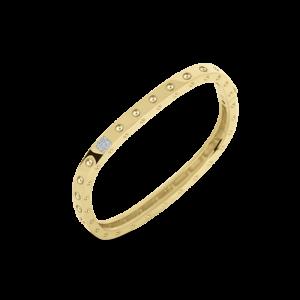 18k Gold 1 Row Square Bangle with Diamonds Roberto Coin Jewels in Paradise Aruba 888523AJBAXS
