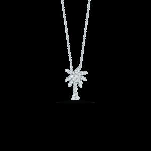 18k Gold Small Palm Tree Pendant with Diamonds Roberto Coin Jewels in Paradise Aruba 001236AWCHX0
