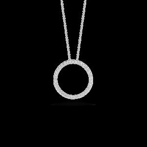 18k Small Diamond Circle Pendant Roberto Coin Jewels in Paradise Aruba 001259aWchx0