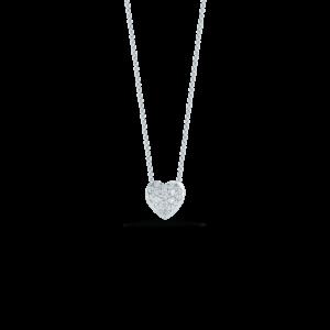 18k Gold Puffed Heart Pendant with Diamonds Roberto Coin Jewels in Paradise Aruba 001549AWCHX0