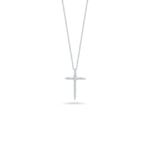 18k Gold Cross Pendant with Diamonds Roberto Coin Jewels in Paradise Aruba 001618AWCHX0