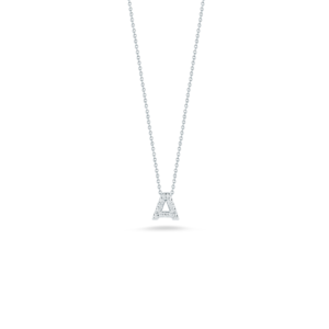 18k Gold Love Letter A Pendant with Diamonds Roberto Coin Jewels In Paradise Aruba 001634AWCHXA