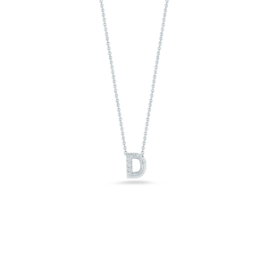 18k Gold Love Letter D Pendant with Diamonds Roberto Coin Jewels in Paradise Aruba 001634AWCHXD