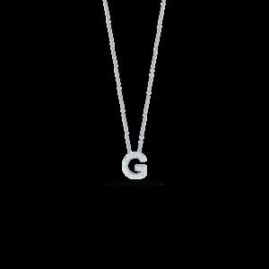 18k Gold Love Letter G Pendant with Diamond Jewels in Paradise Aruba 001634AWCHXG