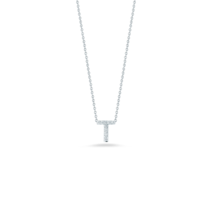 18k Gold Love Letter T Pendant with Diamonds Roberto Coin Jewels in Paradise Aruba 001634AWCHXT