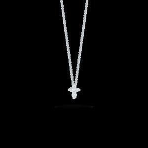 18kt Gold Baby Cross Pendant with Diamonds Roberto Coin Jewels in Paradise Aruba 001883AWCHX0