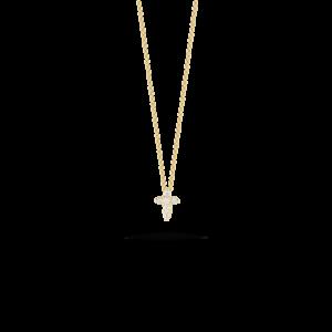 18k Gold Baby Cross Pendant with Diamonds Roberto Coin Jewels in Paradise Aruba 001883AYCHX0