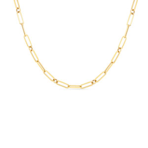 """18k Fine Paperclip Link 17"""" Chain Roberto Coin Jewels in Paradise Aruba 5310167AY310"""