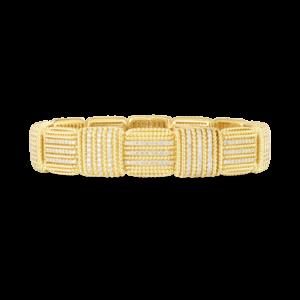 18k Opera Diamond Flexible Wide Bracelet Roberto Coin Jewels in Paradise 7772895AYLBX
