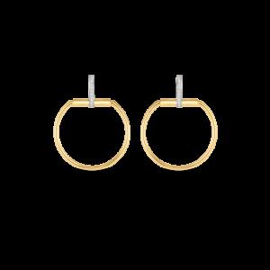 18k Gold Earrings with Diamonds Roberto Coin Jewels in Paradise Aruba 8882385AJERX