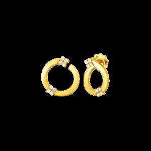 18k Love in Verona Double Diamond Flower Circle Hoop Earring Roberto Coin Jewels in Paradise Aruba