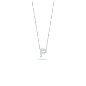 18k Gold Love Letter P Pendant with Diamonds Roberto Coin Jewels in Paradise Aruba 001634AWCHXP