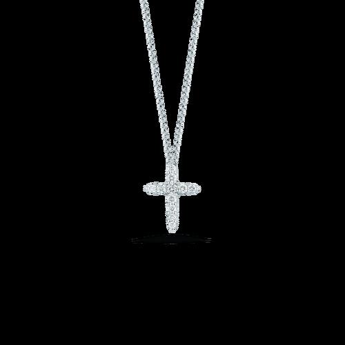 18k Gold Diamond Large Square Cross Pendant Roberto Coin Jewels in Paradise Aruba 001858AWCHX0