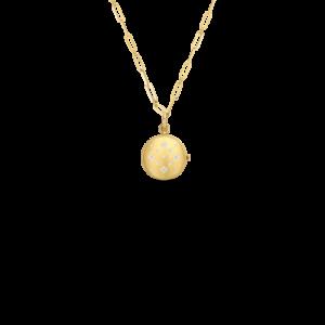 18k Venetian Princess Satin Finish, Diamond Accent Locket on Chain Jewels in Paradise Aruba Roberto Coin 7773109AY19X